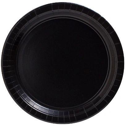 "Big Party Pack Black Dessert Paper Plates, 7"" - 50ct"