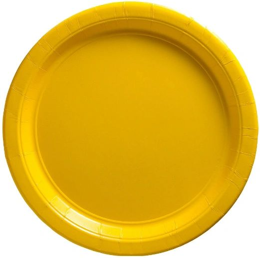"Big Party Pack Yellow Sunshine Lunch Paper Plates, 9"" - 50ct"