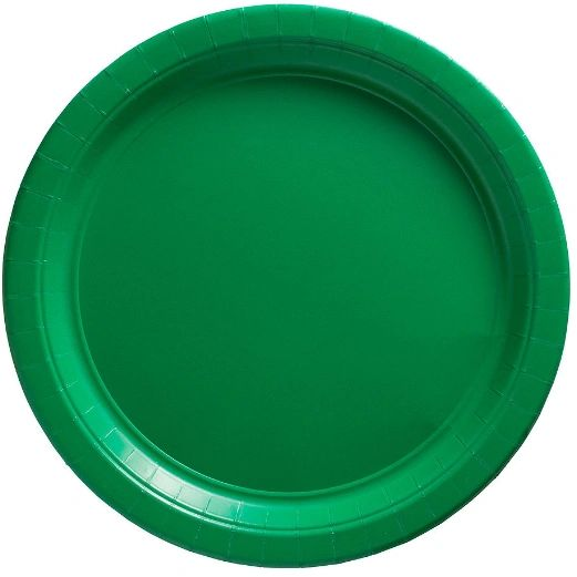 """Big Party Pack Festive Green Lunch Paper Plates, 9"""" - 50ct"""