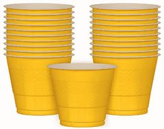 Yellow Sunshine Plastic Cups, 9 oz - 20ct