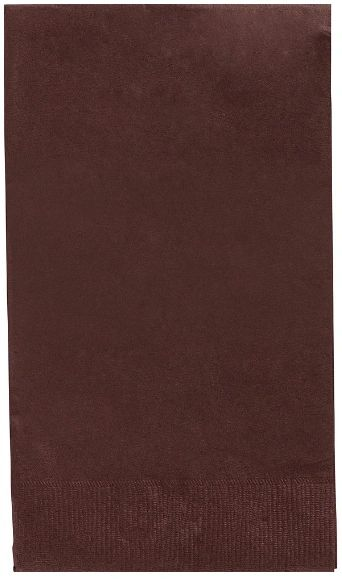 Chocolate Brown 3-Ply Guest Towels, 16ct