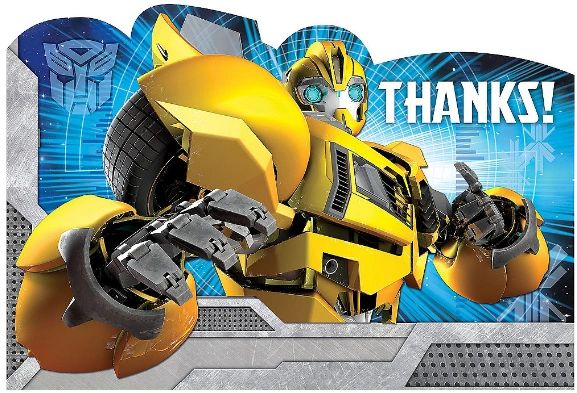 Transformers™ Postcard Thank You Cards, 8ct