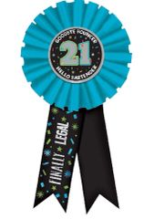 21st Brilliant Birthday Award Ribbon