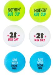 21st Brilliant Birthday Beer Pong Balls, 6ct