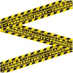 21st Brilliant Birthday Caution Tape, 45ft