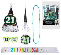 21st Birthday Accessory Kit, 6pc