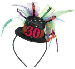 30th Birthday Mini Top Hat Headband