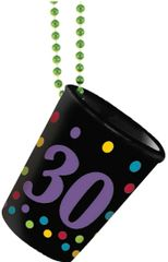30th Birthday Shot Glass Bead Necklace