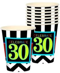 30th Celebration Cups, 9 oz - 8ct