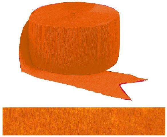 Orange Crepe Streamer, 81ft