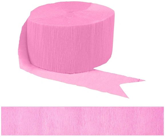 Solid Rolls Crepe - New Pink, 81ft