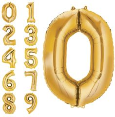 "34"" Gold #0 Foil Balloon"