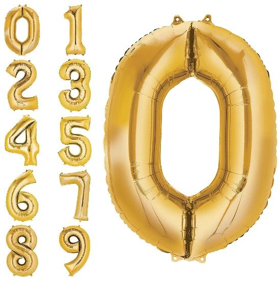 """34"""" Number Balloons - Gold"""