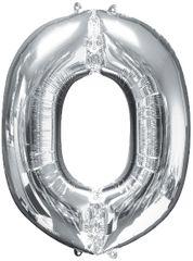 """34"""" Silver Letter O Balloon"""