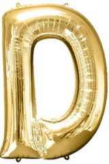 "34"" Gold Letter D Balloon"