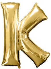 "34"" Gold Letter K Balloon"