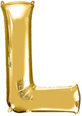 "34"" Gold Letter L Balloon"