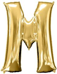 "34"" Gold Letter M Balloon"