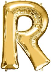 "34"" Gold Letter R Balloon"