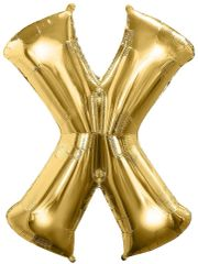 "34"" Gold Letter X Balloon"