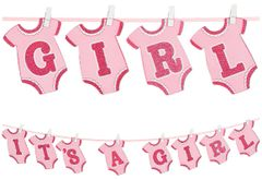 Girl's Onesie Clothespin Banner, 12ft