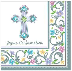 Blessed Day Confirmation Luncheon Napkins, 36ct