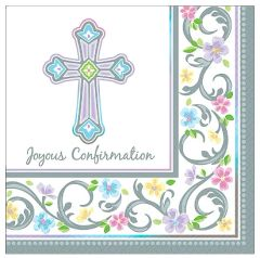 Blessed Day Confirmation Beverage Napkins, 36ct