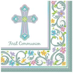 Blessed Day Communion Beverage Napkins, 36ct