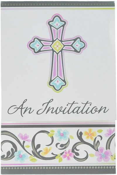 Blessed Day Folded Invitations, 8ct