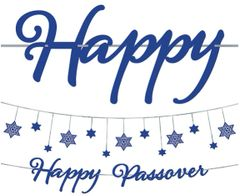 Happy Passover Letter Banner Kit, 2pc