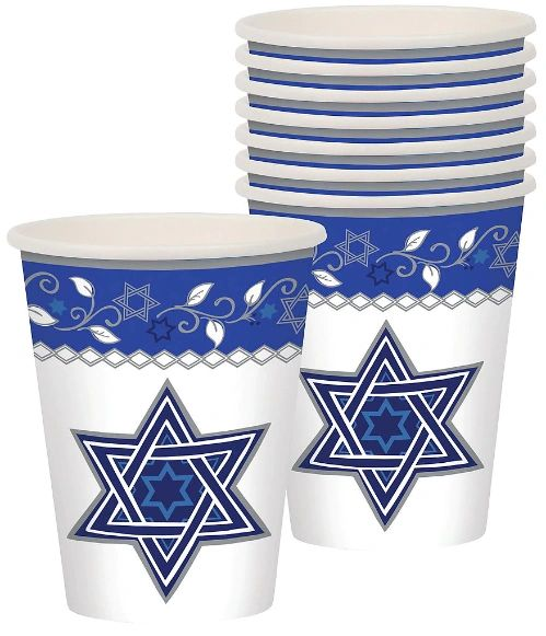 Joyous Holiday Passover Cups, 9oz - 8ct