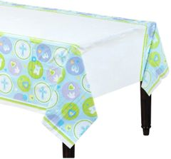 Blue Sweet Religious Table Cover