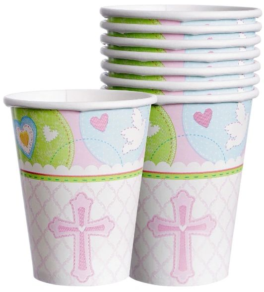 Pink Sweet Religious Cups, 9oz - 8ct