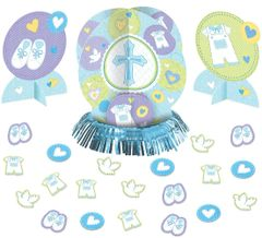 Blue Sweet Religious Table Decorating Kit, 23pc