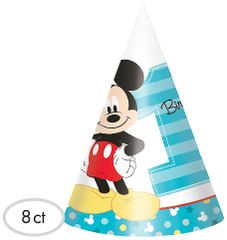 ©Disney Mickey's Fun To Be One Party Cone Hats, 8ct
