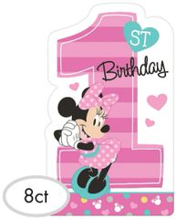 ©Disney Minnie's Fun To Be One Postcard Invitations