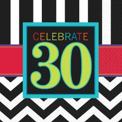 30th Celebration Luncheon Napkins, 16ct