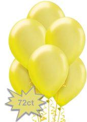 Yellow Sunshine Pearl Latex Balloons, 72 ct.