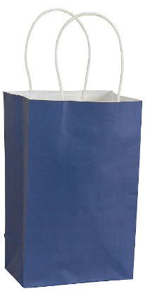 Small Royal Blue Kraft Gift Bag