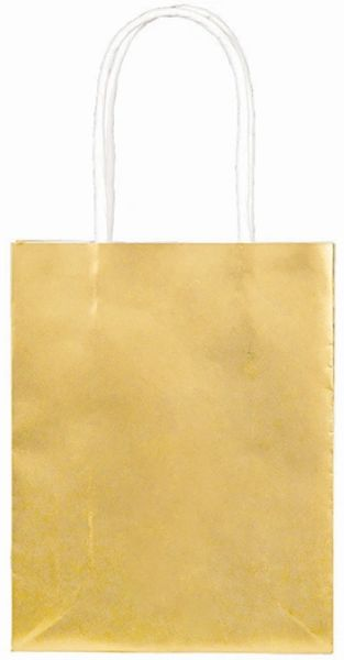 Small Metallic Gold Kraft Bag