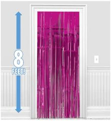 Bright Pink Metallic Curtain