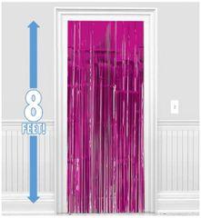 Bright Pink Metallic Curtain