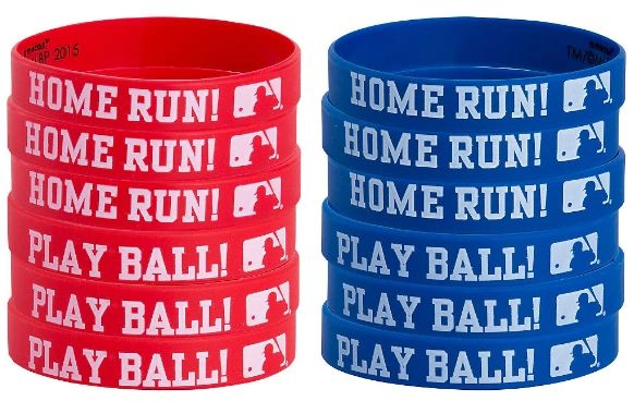 MLB Rubber Bracelets, 12ct