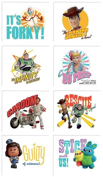 ©Disney/Pixar Toy Story 4 Tattoos, 8ct