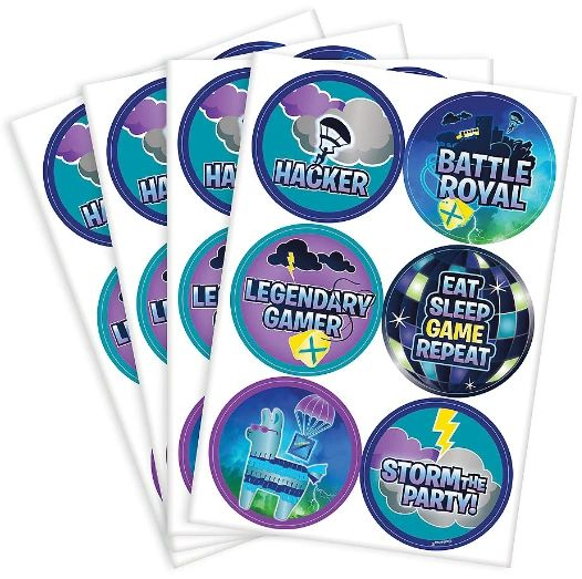 Battle Royal Stickers, 4 Sheets - 24ct