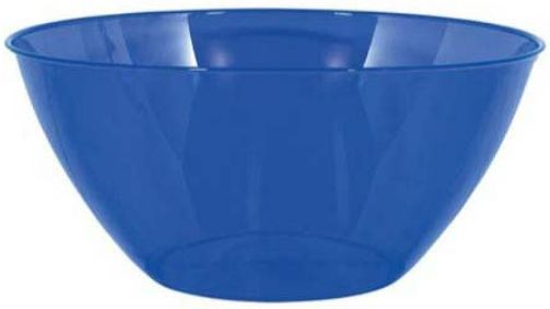 Medium Royal Blue Plastic Bowl
