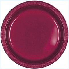"Berry Plastic Dessert Plates, 7"" - 20ct"