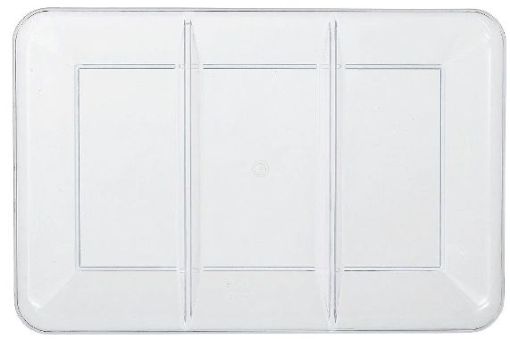 CLEAR Plastic Rectangular Sectional Platter