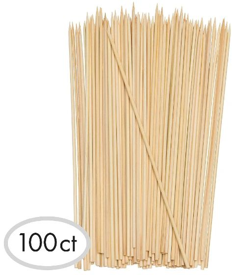 "Bamboo Skewers, 8"" - 100ct"