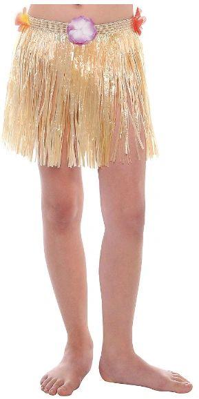 Child Plastic Mini Hula Skirt